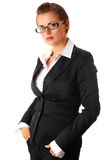 Thinking modern business woman Stock Photos