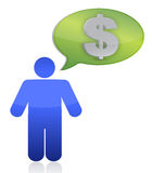 Thinking in money Stock Photography