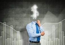 He is always thinking about money Stock Photo