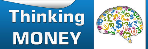 Thinking Money Horizontal Royalty Free Stock Photography