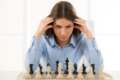 Thinking About A New Move Royalty Free Stock Photo