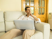 Thinking of new projects at home Stock Images