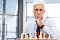 Thinking the next move Royalty Free Stock Photo