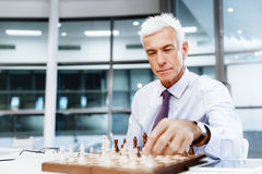 Thinking the next move Stock Image
