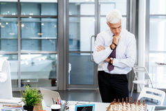 Thinking the next move Stock Images