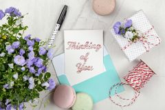 Thinking Of You Postcard Stock Photo