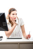 Thinking office worker. Stock Photos
