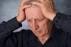 Thinking older man Stock Photos