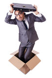 Thinking out of box. Concept Royalty Free Stock Photography