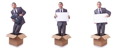 The thinking out of box concept Stock Photos