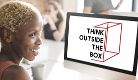 Thinking Out Of The Box Concept Royalty Free Stock Images
