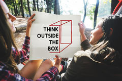 Thinking Out Of The Box Concept Stock Photos