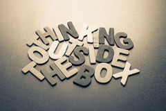 Thinking outside the box Stock Images