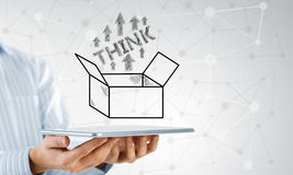 Thinking outside the box concept Royalty Free Stock Photo