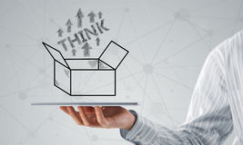 Thinking outside the box concept Stock Photos