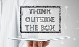 Thinking outside the box concept Stock Images