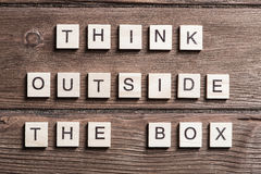 Thinking outside the box concept Royalty Free Stock Image
