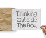 Thinking outside te box Stock Photography