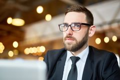 Thinking over Business Ideas Stock Image