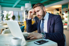 Thinking over some problem Royalty Free Stock Photo