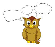 A thinking owl Stock Images