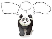A thinking panda Royalty Free Stock Photos