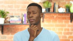 Thinking, Pensive Black Young Man stock footage