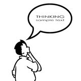 Thinking person Royalty Free Stock Photos