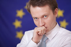 Thinking politician Royalty Free Stock Images