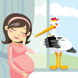 Thinking Pregnancy Royalty Free Stock Image