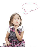 Thinking preschool girl Royalty Free Stock Photography