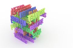 Thinking, Problem, Plan, business conceptual colorful 3D rendered words. Abstract, background, communication & message. Thinking, Problem, Plan, business stock illustration