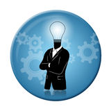 Thinking, Progress and Idea badge Stock Images
