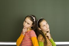 Thinking pupils Royalty Free Stock Image