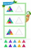 Thinking Puzzles mental rotation. Educational game for kids and adults development of mental rotation skills, iq. Thinking Puzzles . Task game for children vector illustration