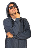 Thinking rapper man Stock Photography