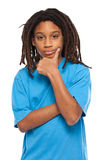 Thinking rasta kid Stock Photos