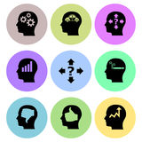Thinking related icon designs Stock Image