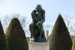 The thinking in Rodin Museum in Paris Stock Image