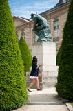 The thinking in Rodin museum in Paris Stock Photo
