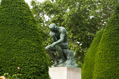 The thinking in Rodin museum in Paris Stock Photos