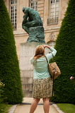 The thinking in Rodin museum in Paris Stock Images