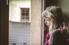 Thinking sad child Stock Photography