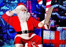 Thinking santa Stock Images