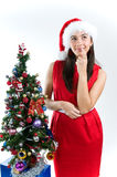 Thinking on Santa Royalty Free Stock Image