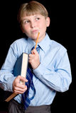 Thinking School boy student Stock Photos