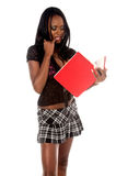 Thinking Schoolgirl Royalty Free Stock Photography