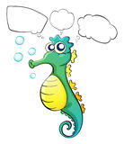 A thinking sea horse Stock Images