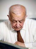 Thinking senior Royalty Free Stock Photos