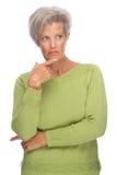 Thinking senior woman Royalty Free Stock Photography